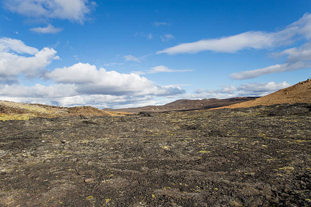 lava field - desolated stock pictures, royalty-free photos & images