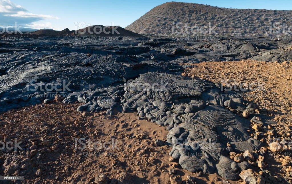 Lava Field stock photo