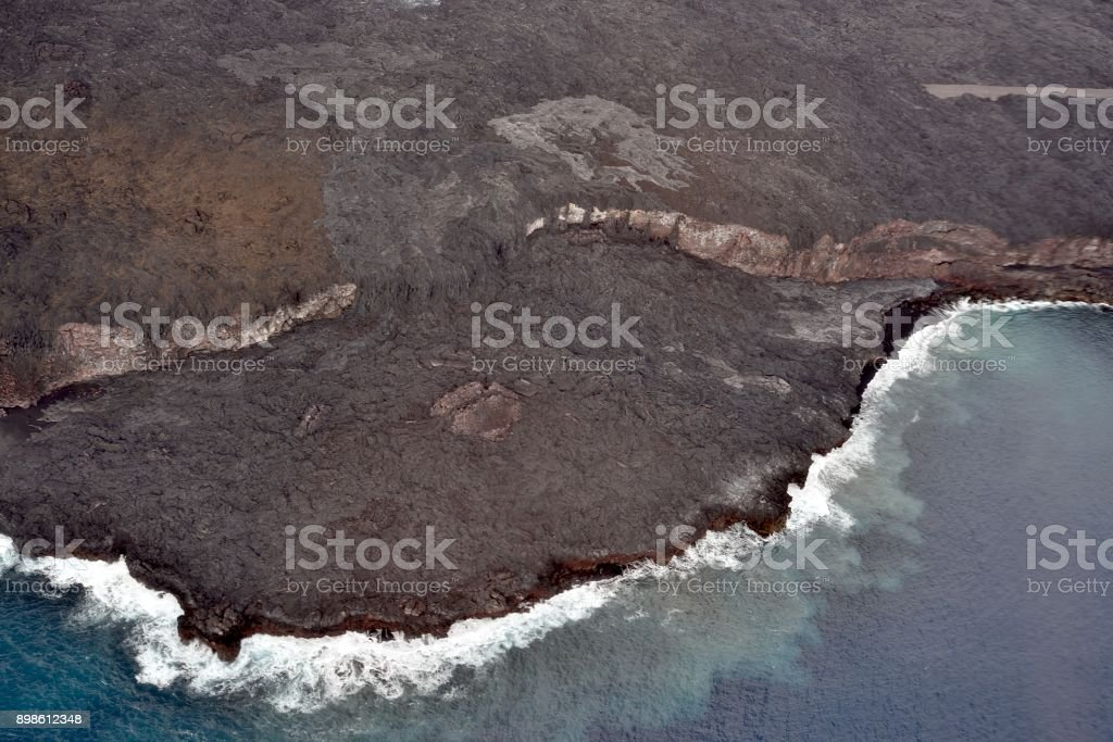 Lava Flow Waterfall stock photo