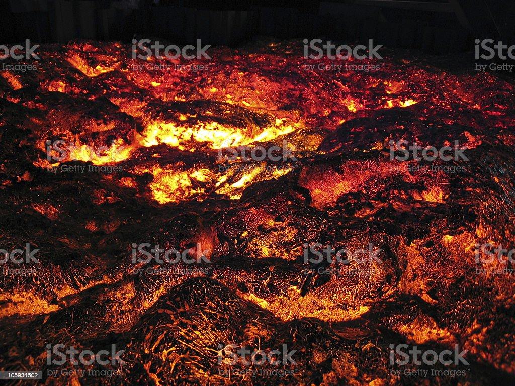 Lava glowing royalty-free stock photo