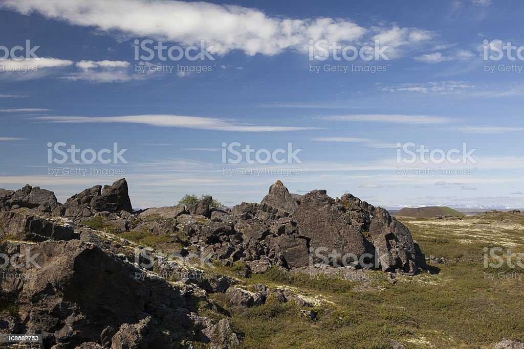 Lava landscape in Iceland royalty-free stock photo