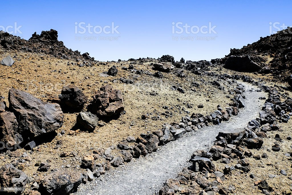 lava path stock photo