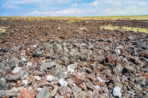 Lava Plain in Big Hawaii Island