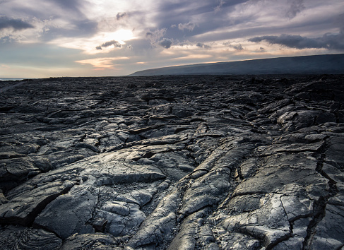 istock lava rock field in Hawaii 969890022