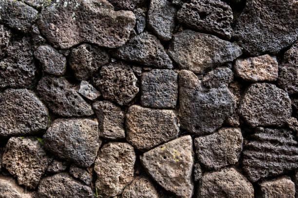 Lava Rock Wall stock photo