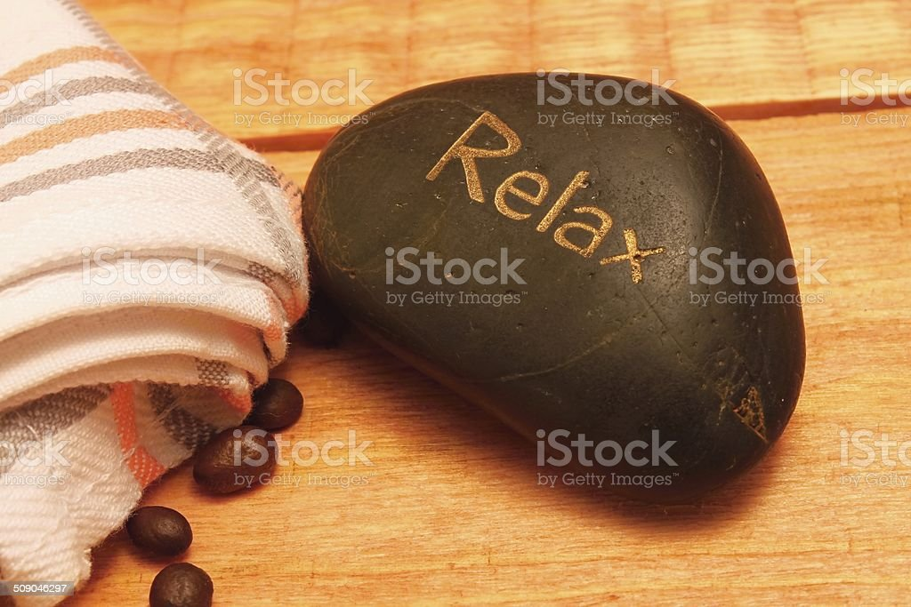 Lava stone and coffee stock photo