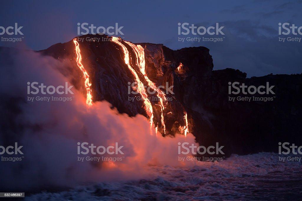 Lava stream stock photo