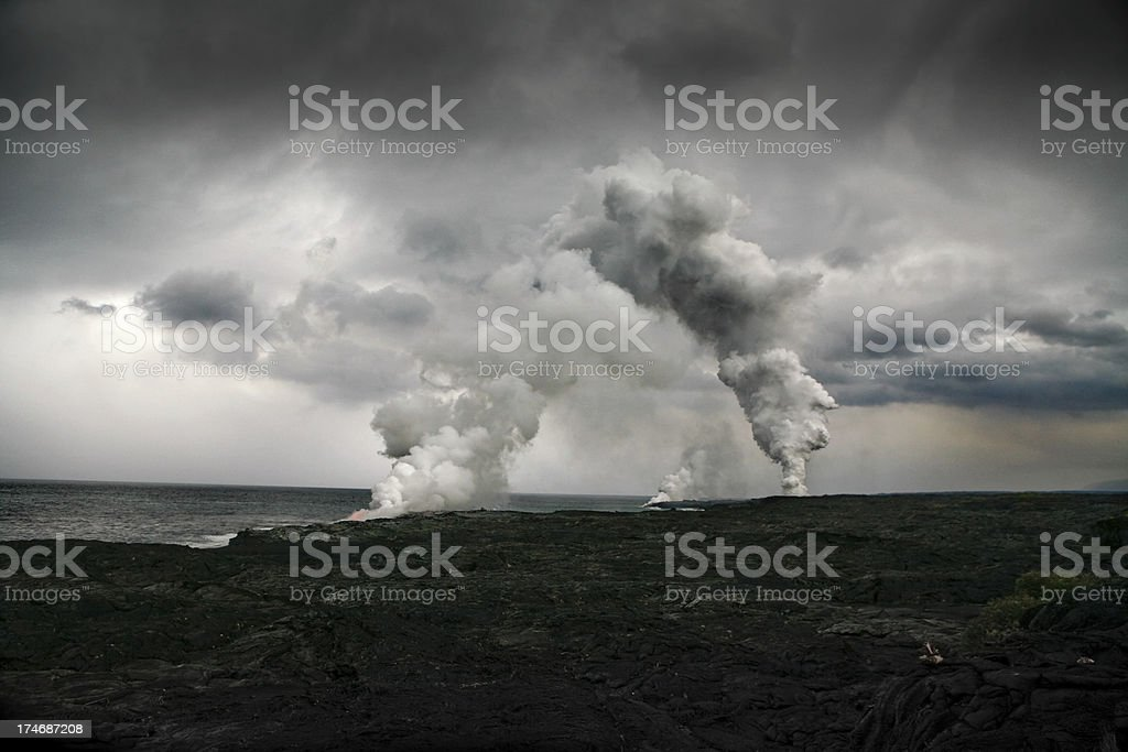 Lavafields in Hawaii royalty-free stock photo