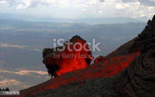 istock Lavaflow at volcano Pacaya in Guatemala 179297675
