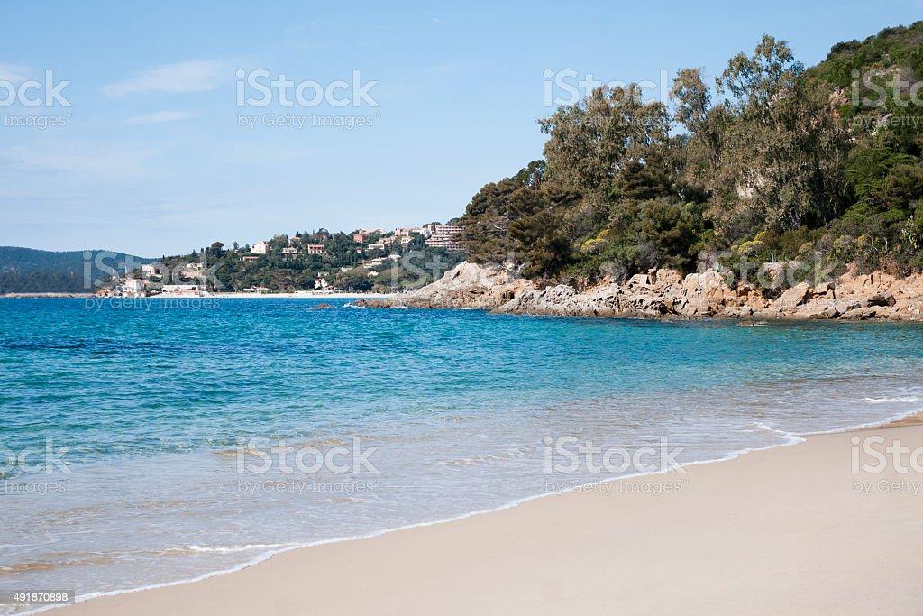 Lavandou beach stock photo