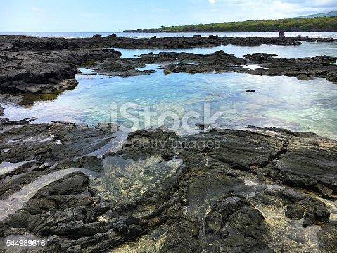 Tide pools near Whittington Beach Park. Big Island, Hawaii.