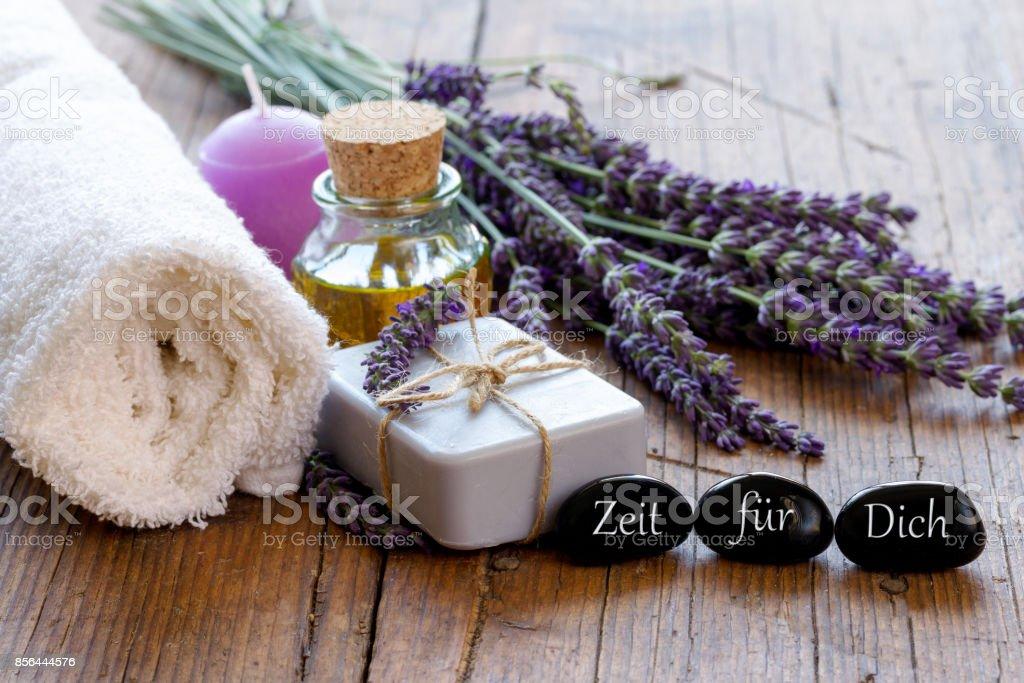 Lavendelseife stock photo