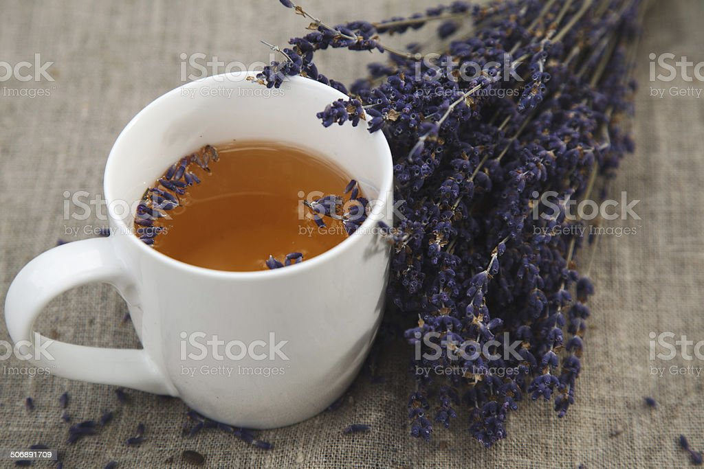 Lavender and cup of tea - Royalty-free Beauty Stock Photo