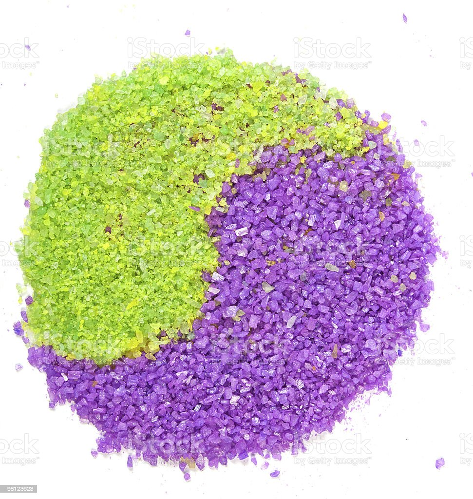 Lavender and green tea sea salt royalty-free stock photo