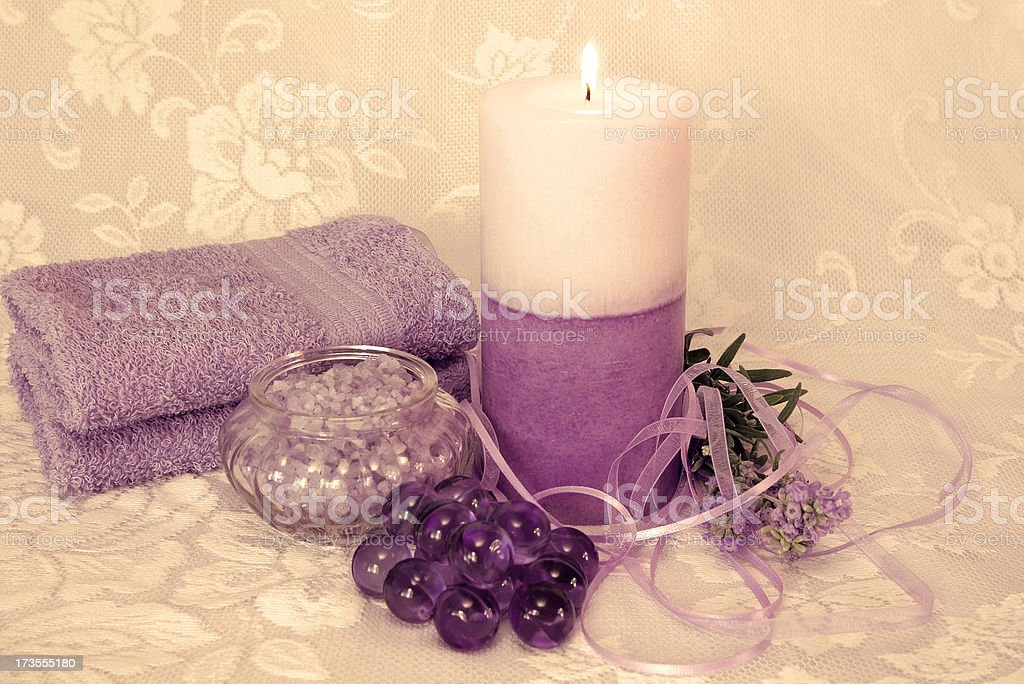 Lavender and Lace royalty-free stock photo