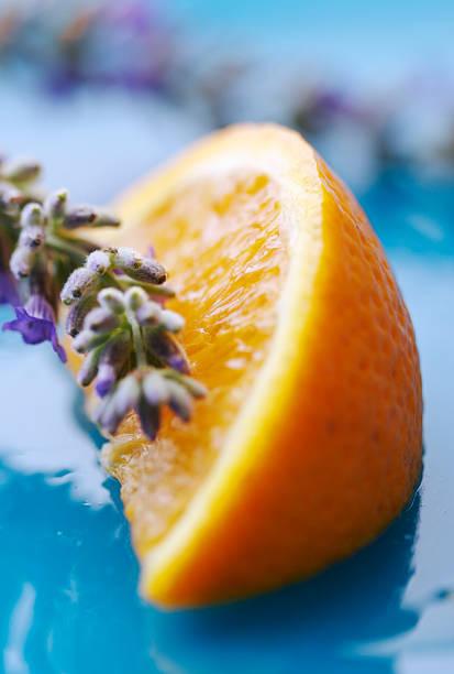 Lavendel und orange – Foto