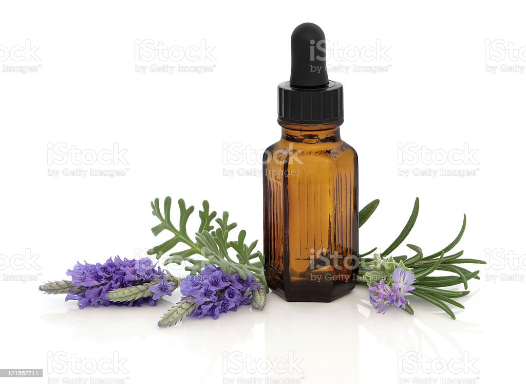 Lavender and Rosemary Essence stock photo