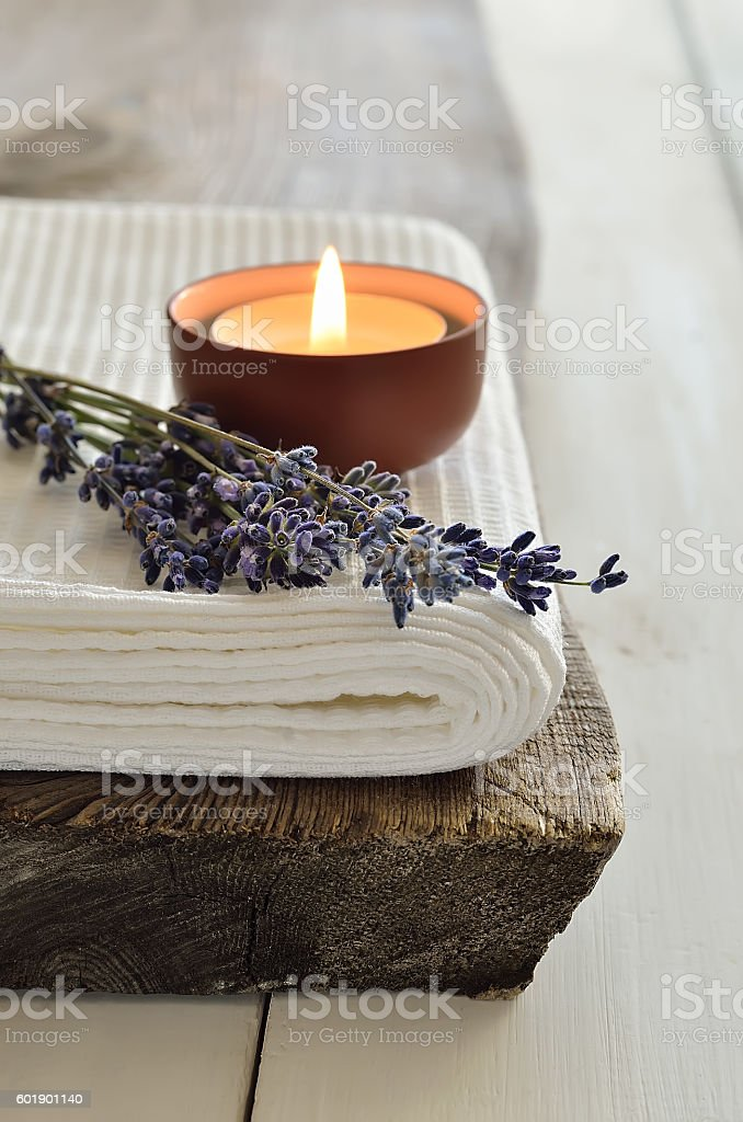 Lavender aroma theraphy stock photo