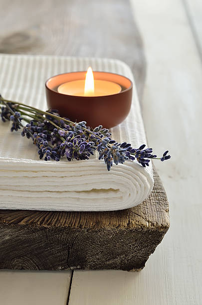 lavender aroma theraphy - spa treatment stock photos and pictures