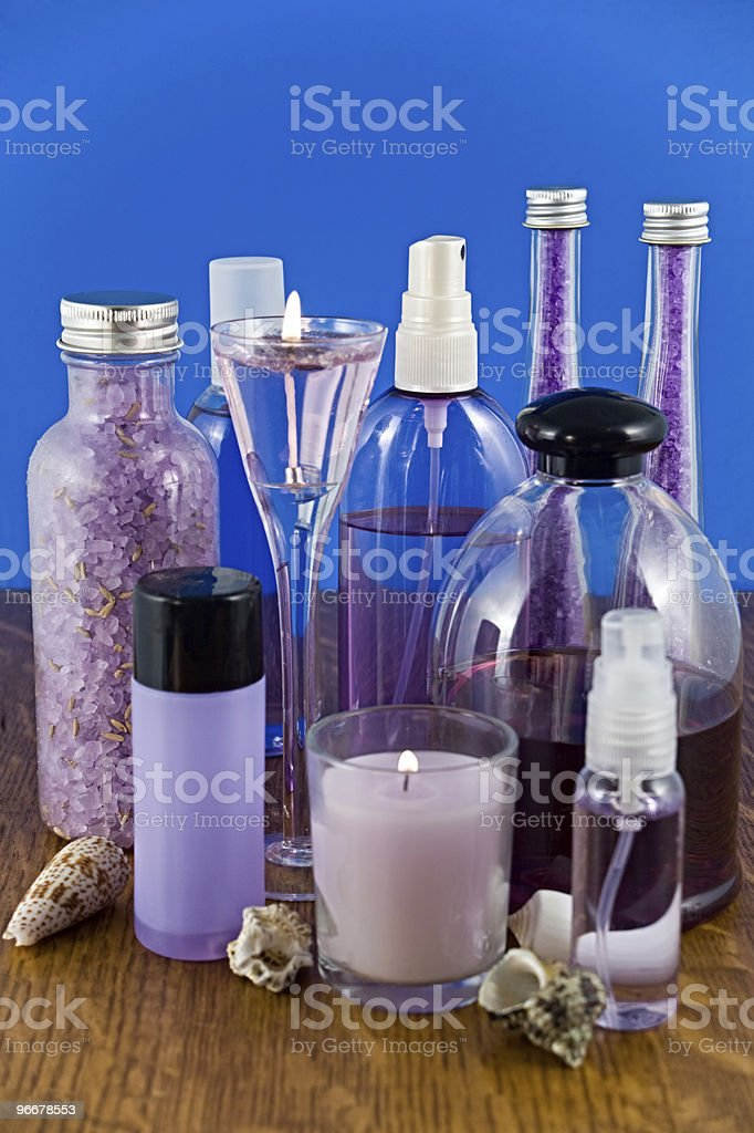 Lavender bath products royalty-free stock photo