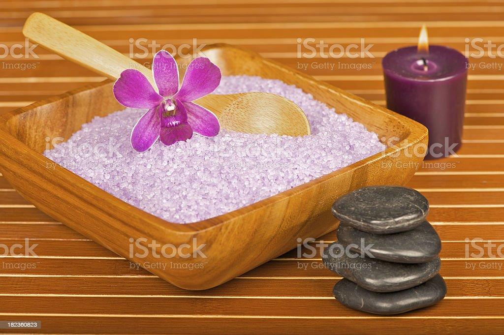 Lavender Bath Salts royalty-free stock photo