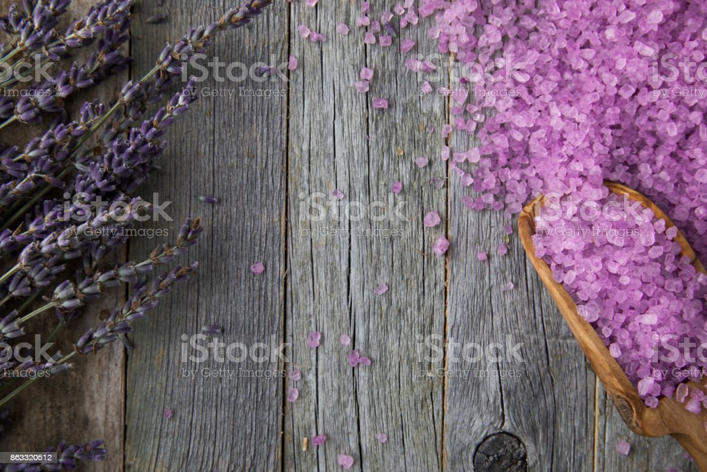 Lavender Bath Salts stock photo