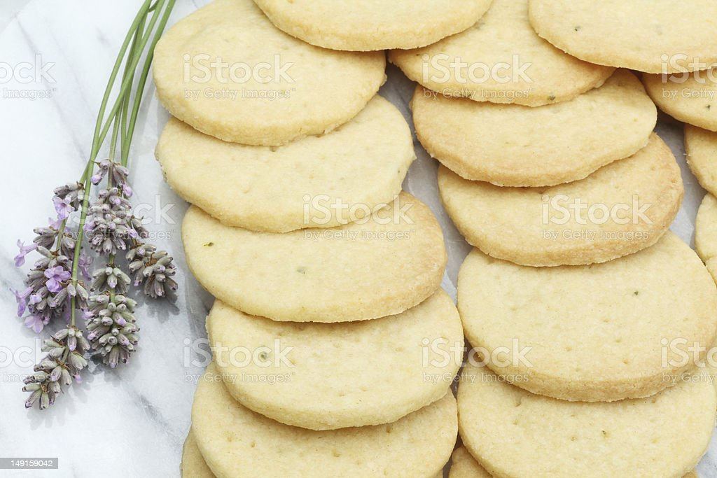 Lavender biscuits stock photo