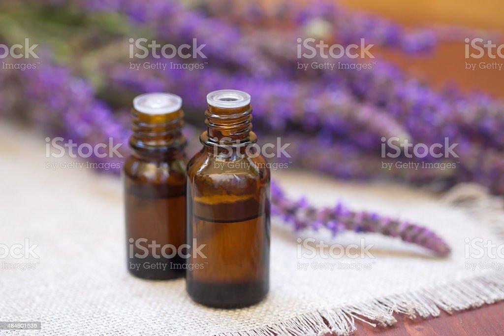 Lavender essential aroma oil stock photo
