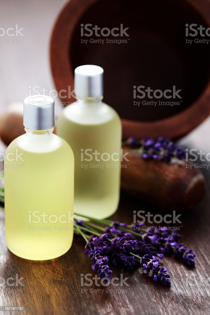 lavender essetial oil royalty-free stock photo