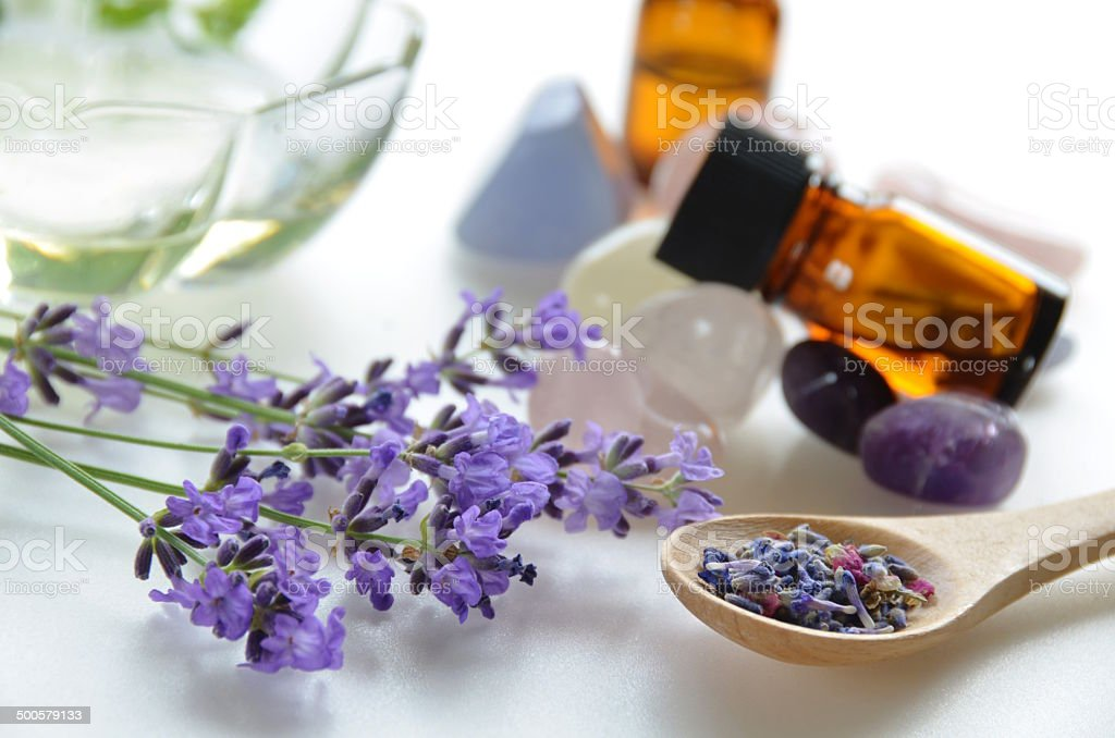 lavender for beauty treatment stock photo