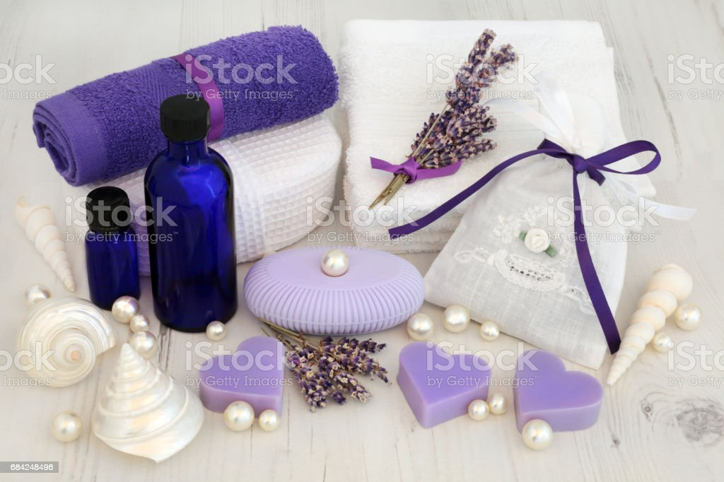 Lavender Herb Cleansing Treatment royalty-free stock photo