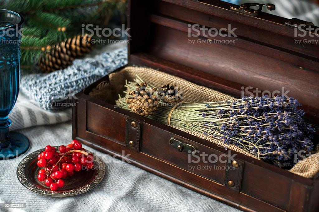 lavender home decor stock photo