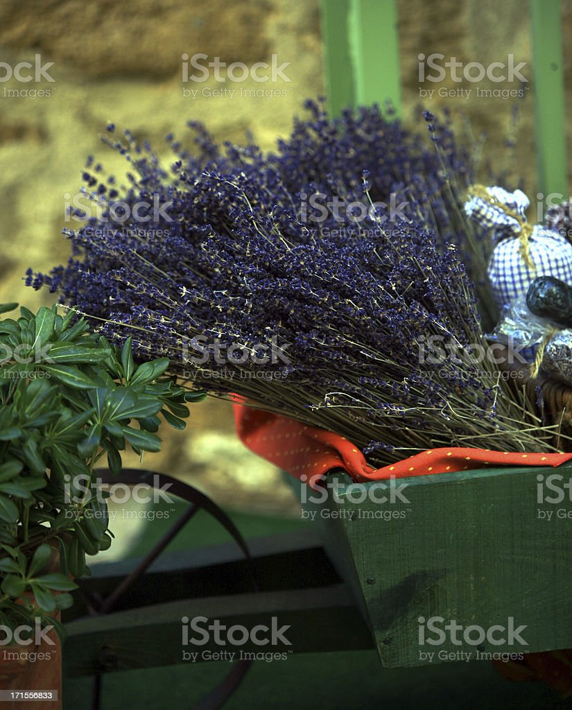 Lavender in Provence Market royalty-free stock photo