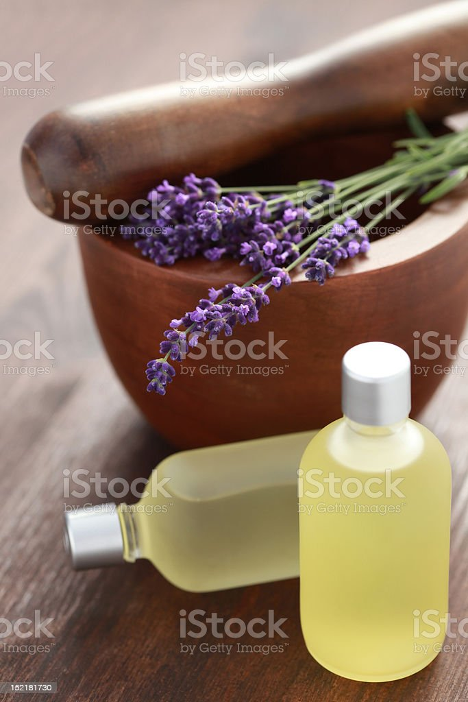 lavender massage oil royalty-free stock photo