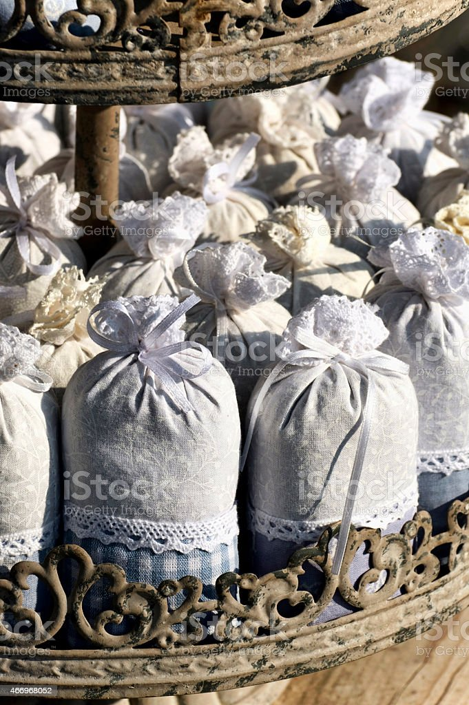 Lavender packets stock photo