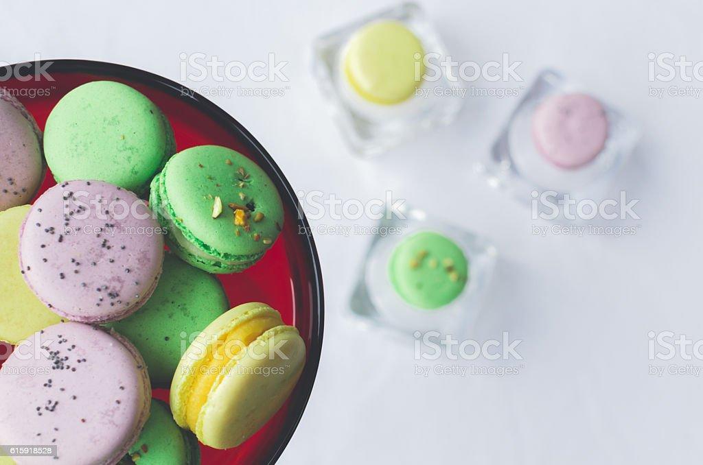 Lavender Pistachio And Mango Macarons Stock Photo - Download ...