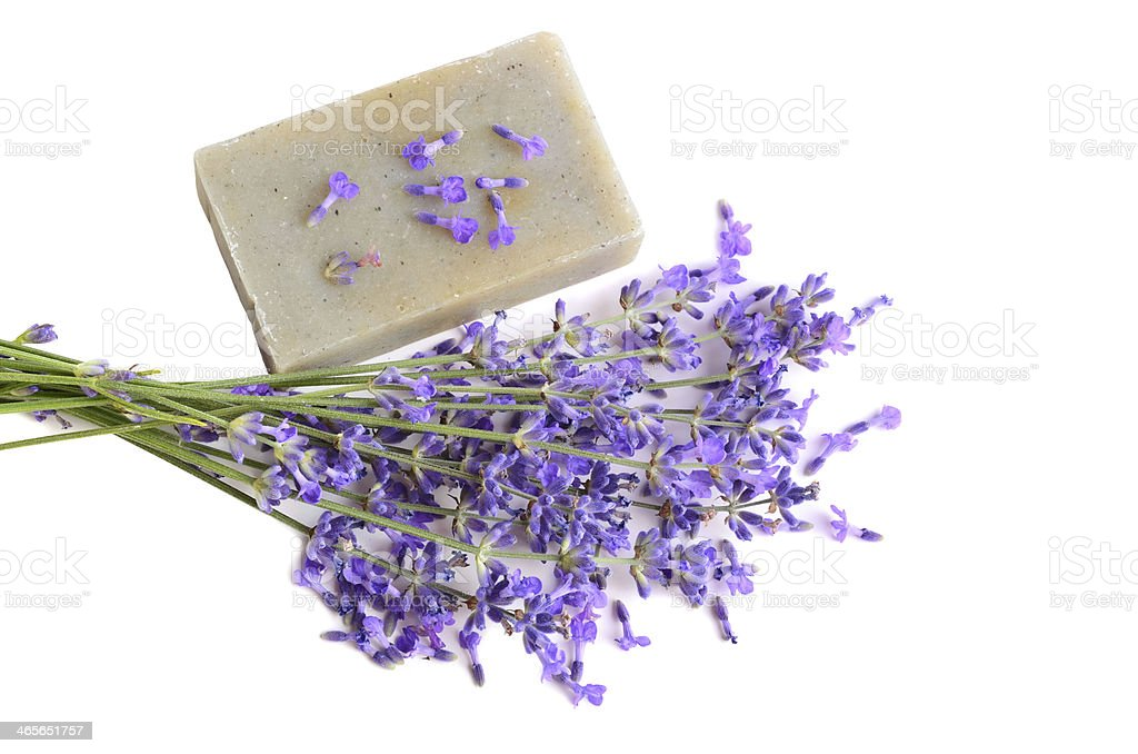 Lavender soap royalty-free stock photo