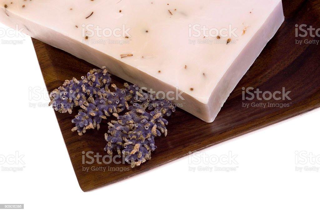 lavender soap. spa royalty-free stock photo