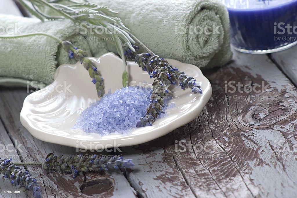 Lavender spa set royalty-free stock photo