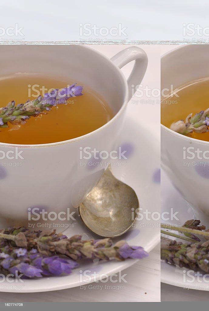 Lavender tea III royalty-free stock photo