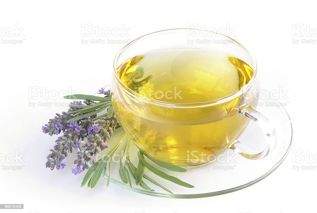 lavender tea royalty-free stock photo