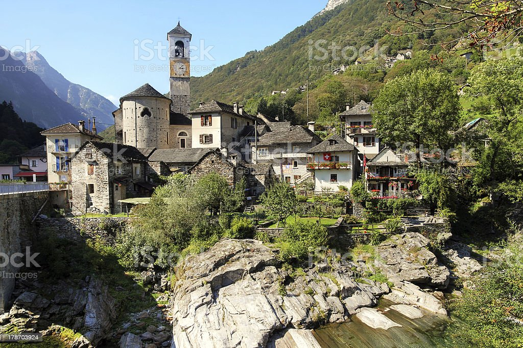 Lavertezzo, Verzasca Valley, Switzerland royalty-free stock photo
