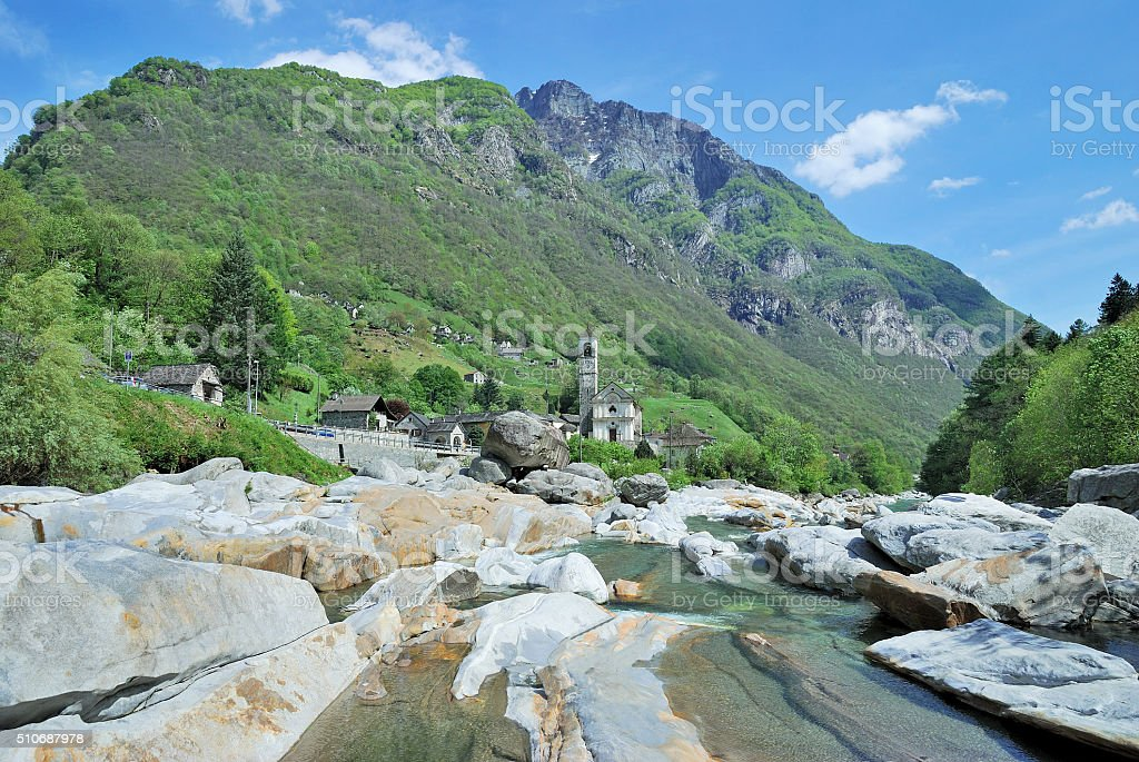 Lavertezzo,Verzasca Valley,Ticino Canton,Switzerland stock photo