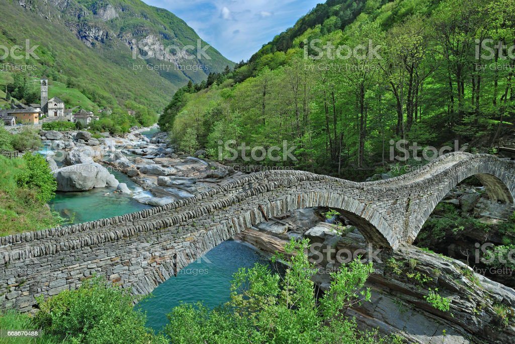 Lavertezzo,Valle Verzasca,Ticino Canton,Switzerland stock photo