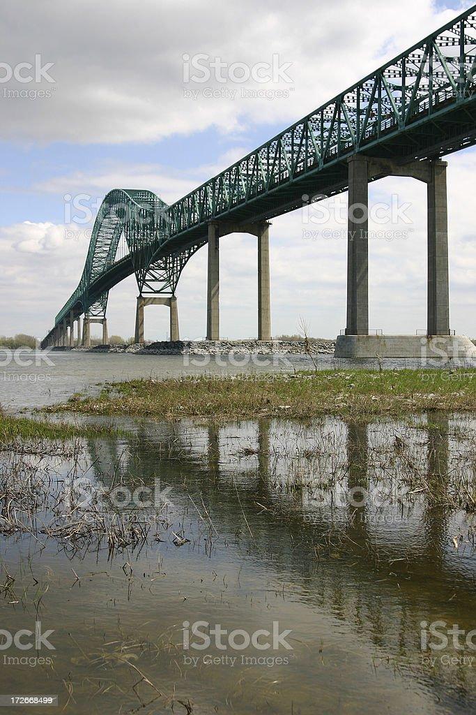Laviolette Bridge royalty-free stock photo