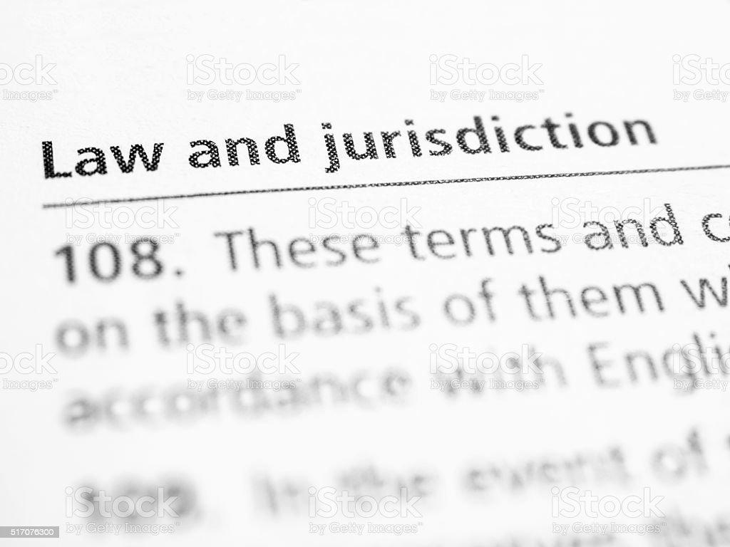Law and Jurisdiction stock photo
