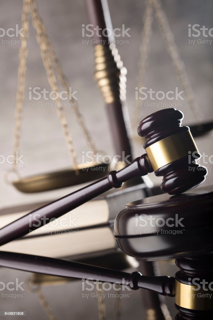 Law and justice concept background. stock photo