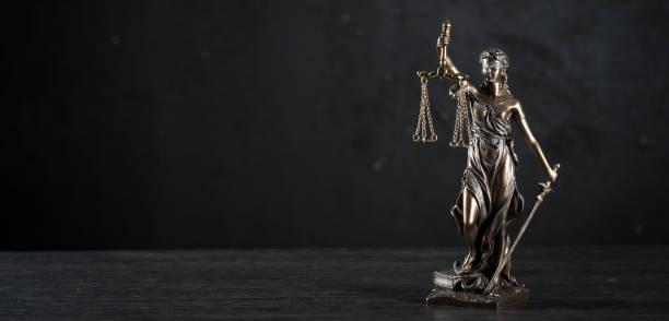 Imagen conceptual de ley y justicia - foto de stock