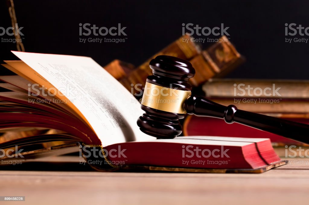 Law and justice concept. Legal office stock photo