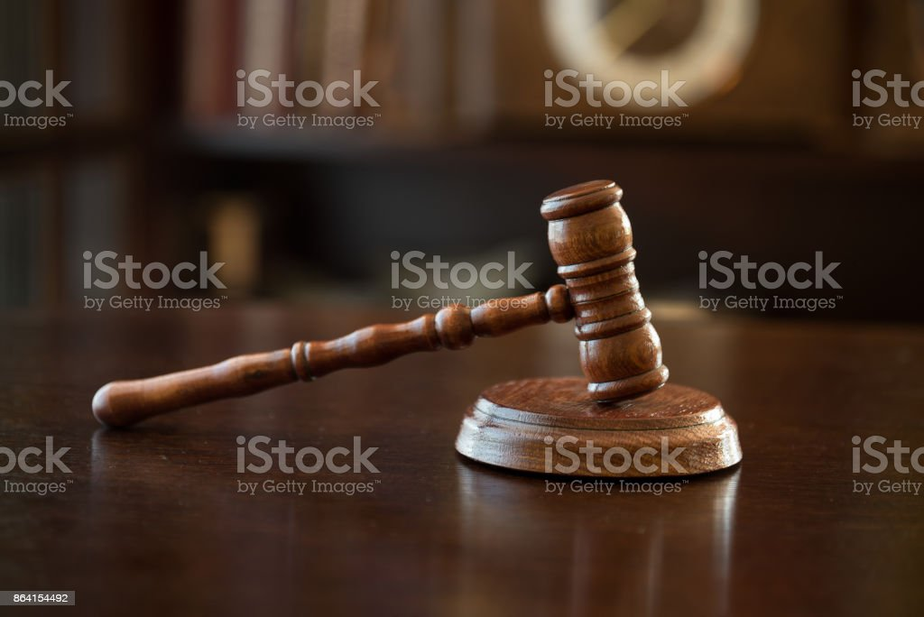 Law and Justice concept, mallet of judge, wooden gavel royalty-free stock photo